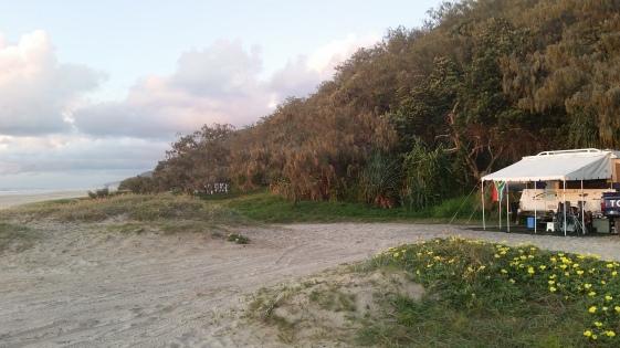 Teewah camping